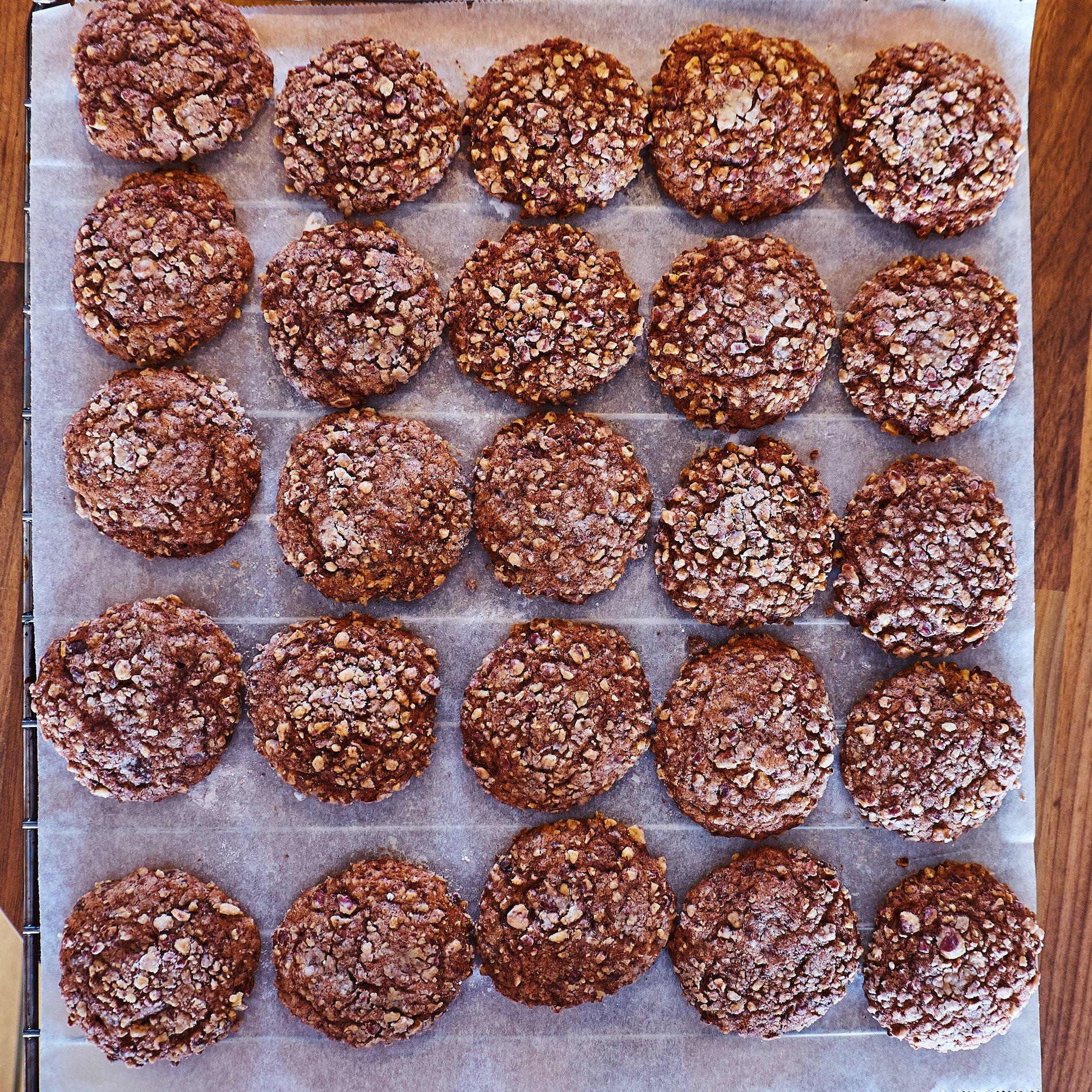 Schokoladen, Bananen und Pekan Cookies