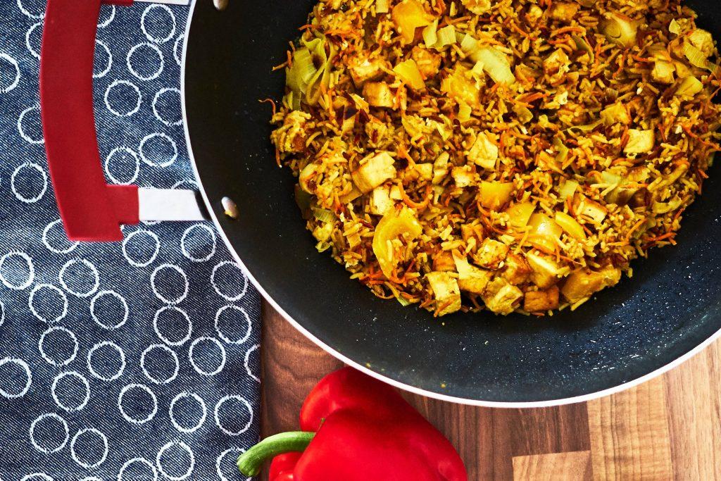 Gebratener Reis mit Tofu